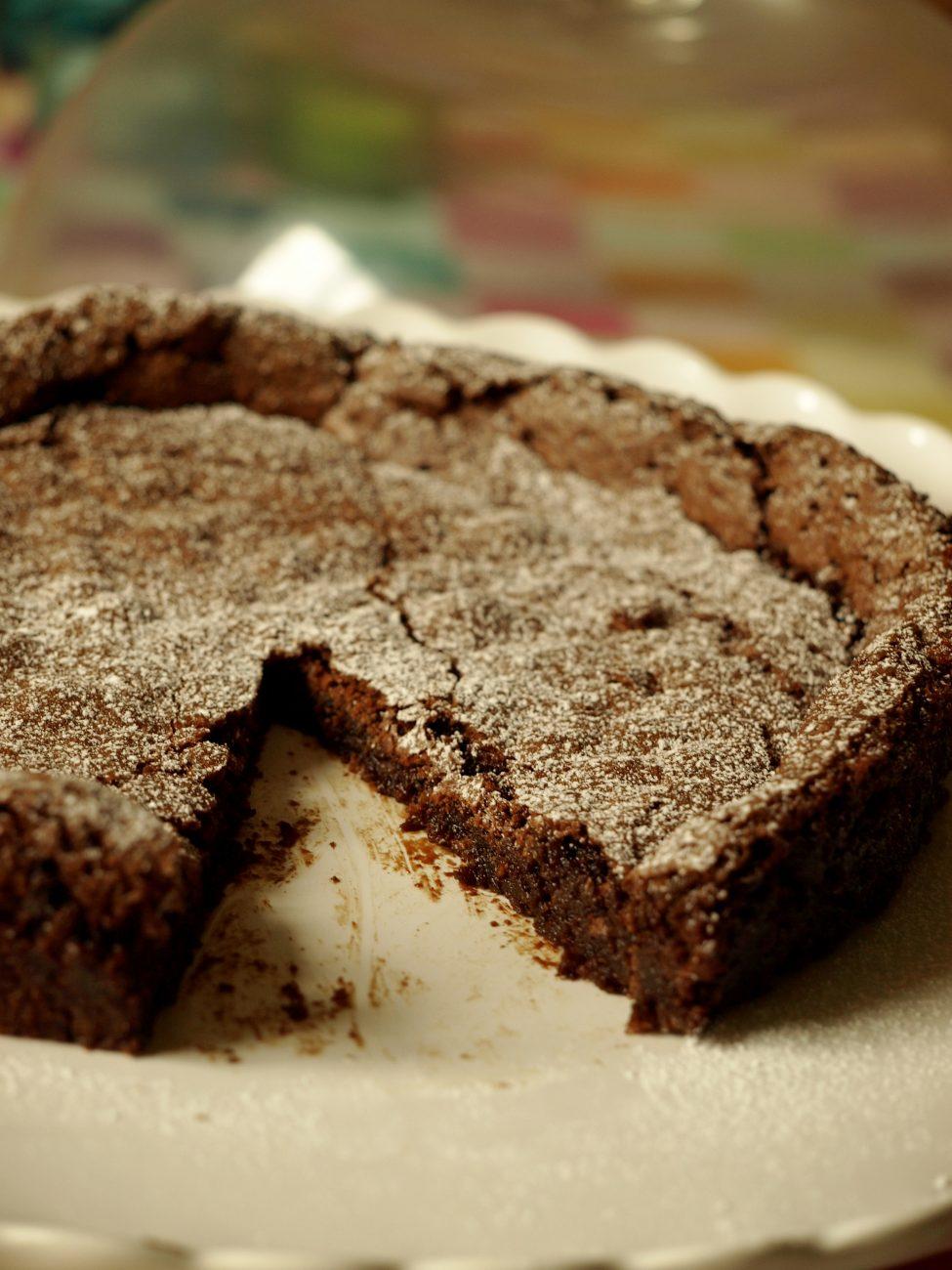 Glutenfri kladdkaka med mörk choklad