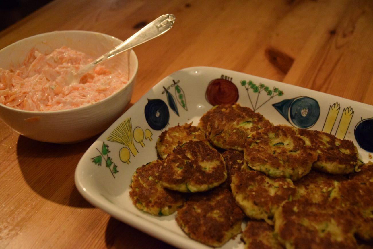 Glutenfria zucchinibiffar