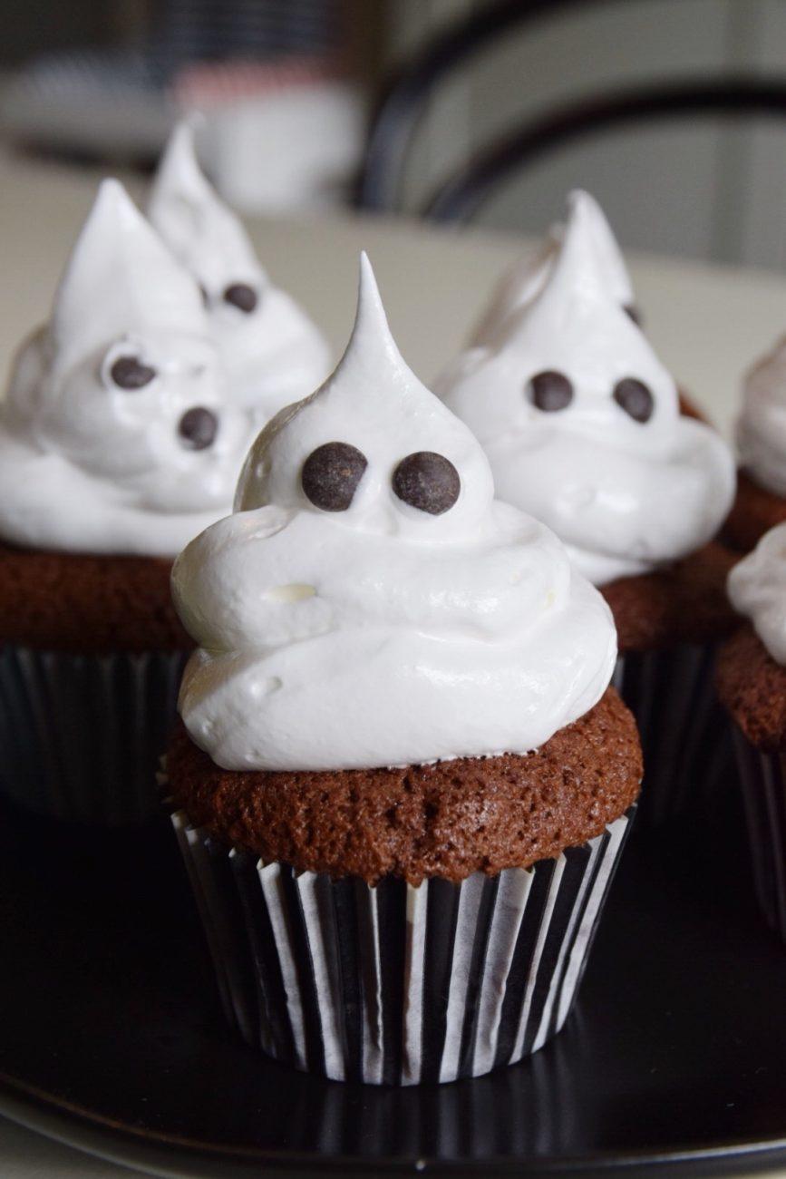 Glutenfria spökcupcakes till Halloween