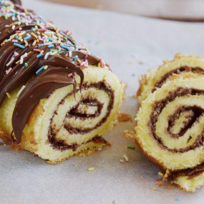 Glutenfri rulltårta med nutella