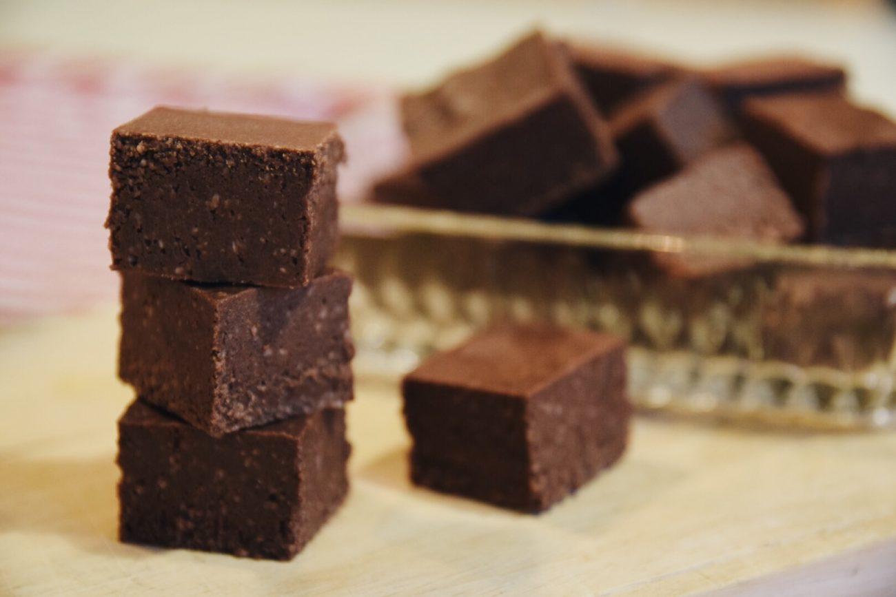 Vegansk chokladfudge