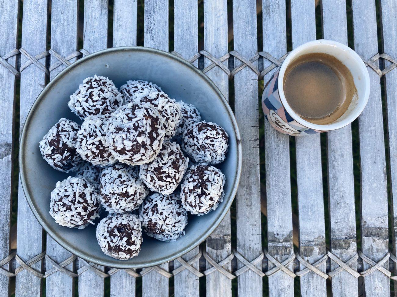 Veganska glutenfria chokladbollar